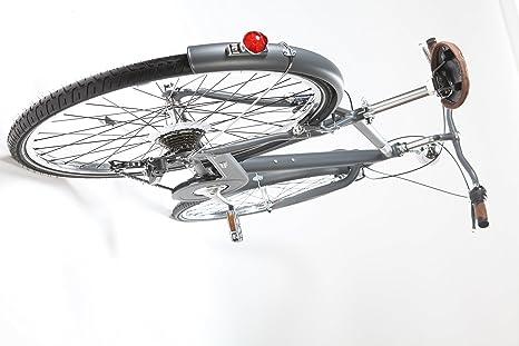 LA Urban Vintage Grey: Bicicleta Paseo Hombre en Aluminio 7 ...