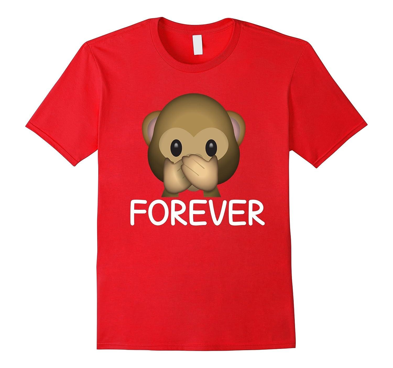 Best Friends Forever Speak No Evil Monkey Emoji T-shirt.-TH