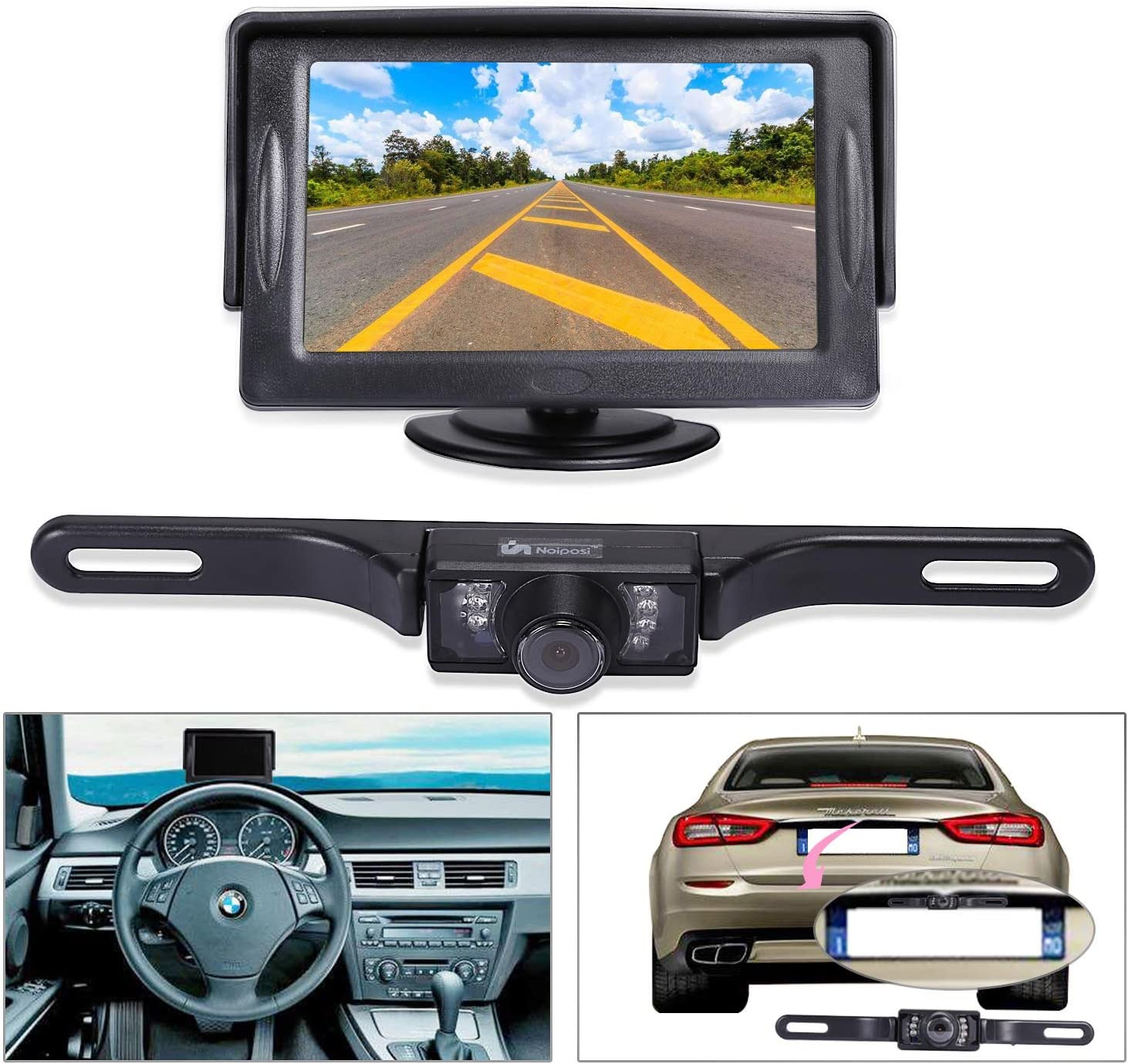 Waterproof Night Vision HD Car Rear View Backup Camera with 170° Wide Angle TN