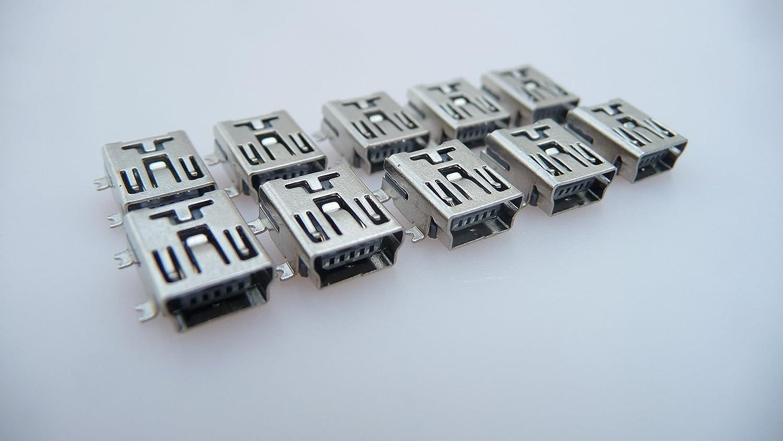 Einbaubuchse Printmontage Lötmontage SMD SMT PCB Micro B USB Buchse 5-polig