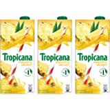 Tropicana Pineapple Delight Fruit Juice, 1L (Pack of 3)