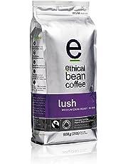 Ethical Bean Fair Trade Organic Coffee, Lush Medium Dark Roast, Whole Bean Coffee  - 908g (2lb) Bag
