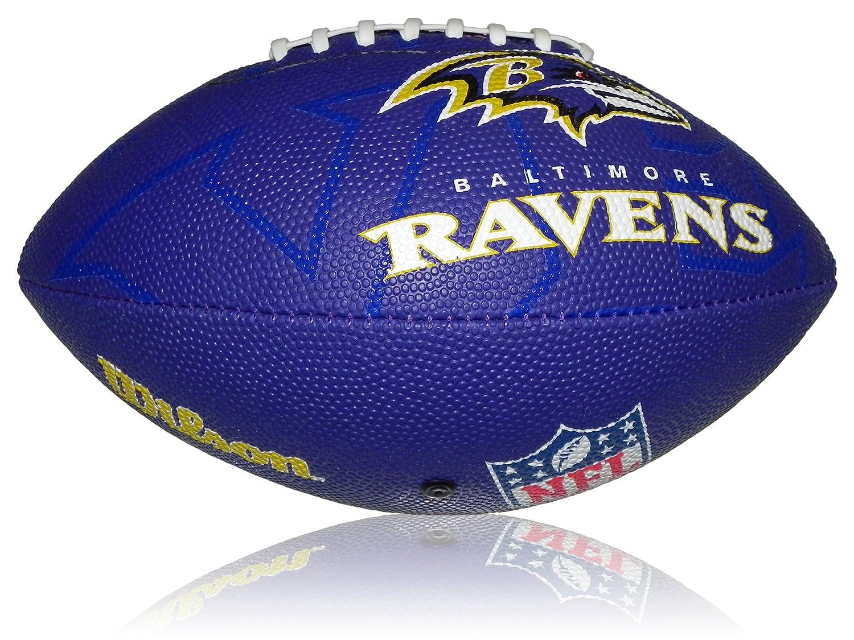 Wilson Football NFL Junior Baltimore Ravens Logo - Balón de fútbol americano ( infantil, caucho ) , color multicolor, talla 5 WL0206804040