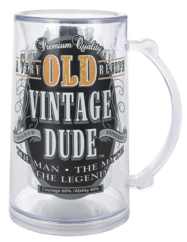 Laid Back CS1409 Men's Old Person Birthday Vintage Dude Tankard, 14-Ounce [並行輸入品] B0151SZYRE