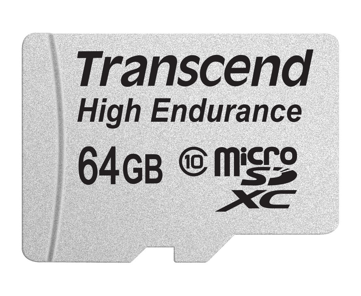 SpyTec Transcend High Endurance Waterproof Micro SDXC 64 GB Class 10 Card with SD Adapter Included