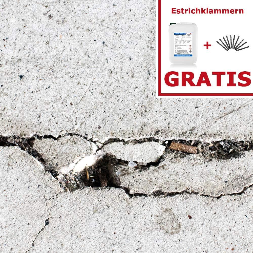 Garage Werkstatt Komplett-Set Home Profis/® HPLH-100 Gie/ßharz Rissharz Reparaturharz Estrich Reparatur 9kg Epoxidharz inkl. 120 Estrichklammern