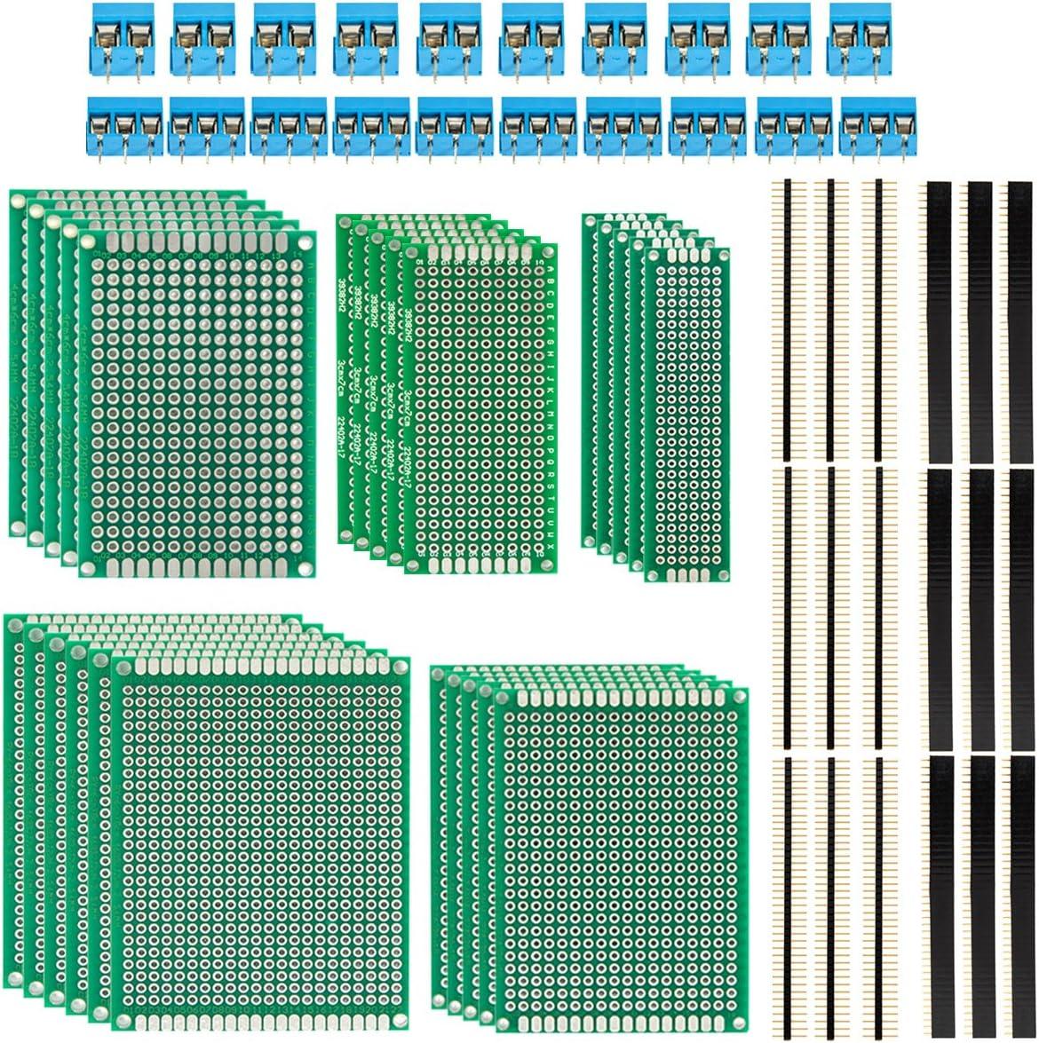 2stk Einseitige Universal Lochrasterplatine Leiterplatten Dicke 1,5mm 12x18cm
