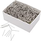 Outus 3500 Pieces Head Pins Fine Satin Pin Dressmaker Pins for Jewelry Making, Sewing and Craft, Nickel Plated, 26 mm