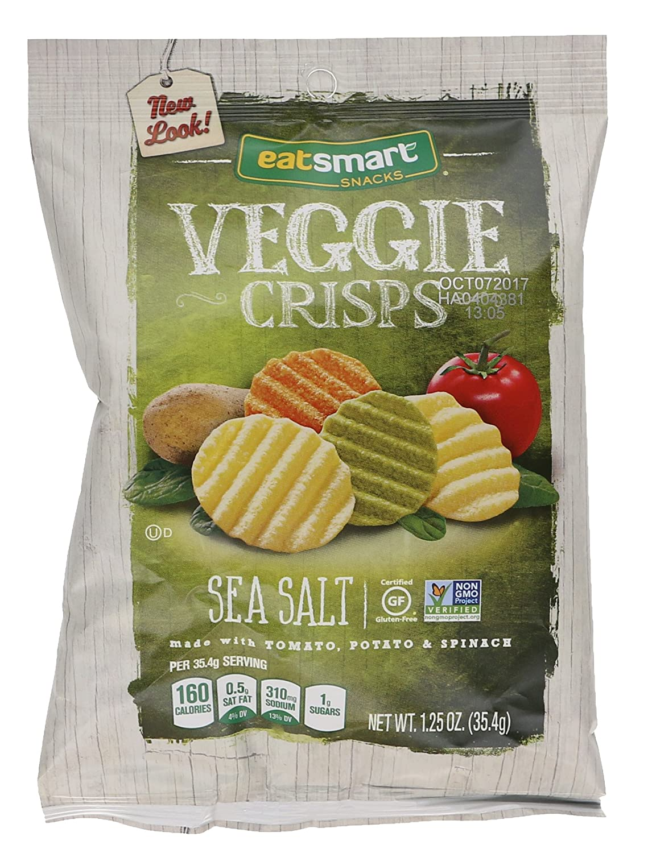 Eatsmart Snacks, Veggie Crisps with Sea Salt, 1.25 Ounce, 8 Count