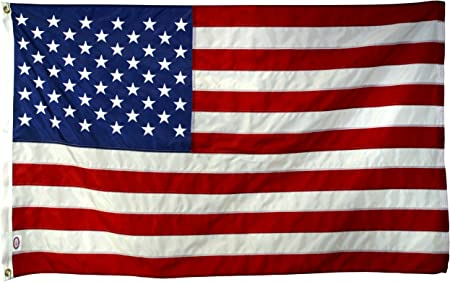 AMERICAN FLAG STRONG 10X15  EMBROIDERED 2-PLY POLY U.S