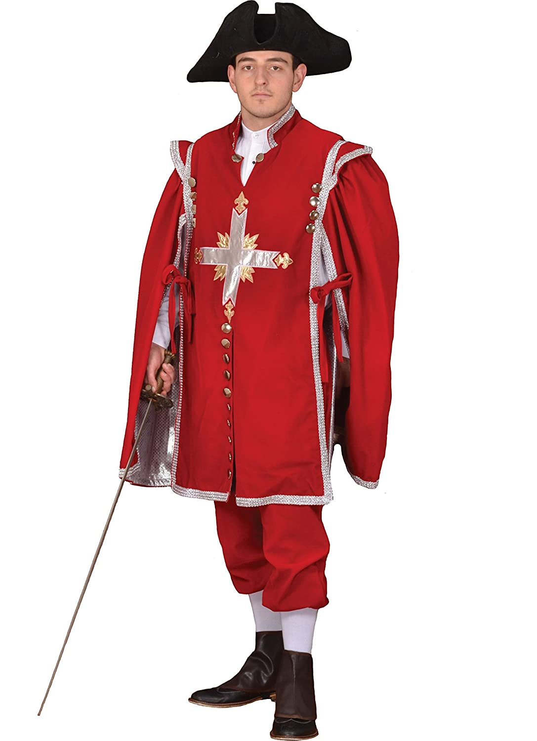 a4f57e572ad Men s Red Musketeer Theatrical Costume - DeluxeAdultCostumes.com