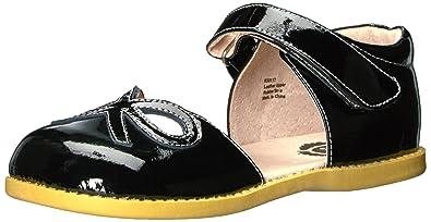 1c803474f6ca Livie   Luca Girls  Bow Mary Jane Flat Black 4 Medium US Toddler