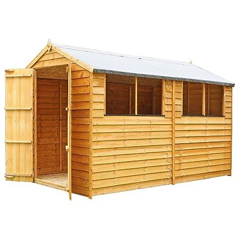 Waltons - Cobertizo de madera para jardín, con techo a dos aguas, aprox.