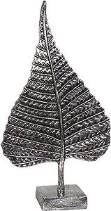 Sagebrook Home 14586-01 Aluminum Leaf On Stand, 18