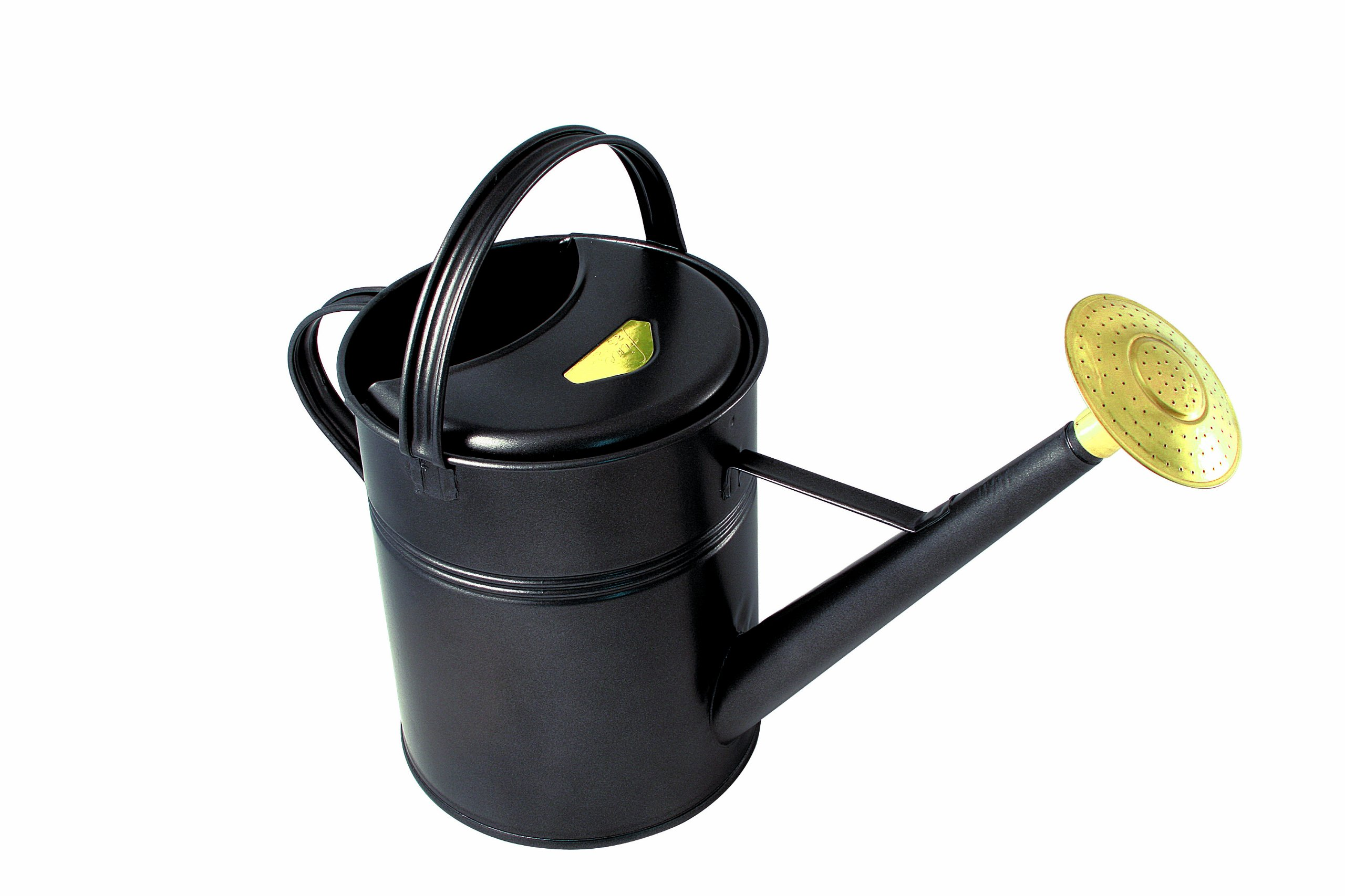 Haws Traditional Peter Rabbit Design Metal Watering Can, 2.3-Gallon/8.8-Liter, Black