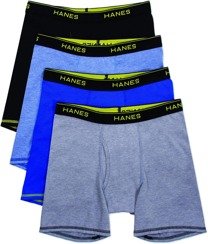 Hanes Boys 4 Pack w//Cool Comfort Boxer Boxer Briefs