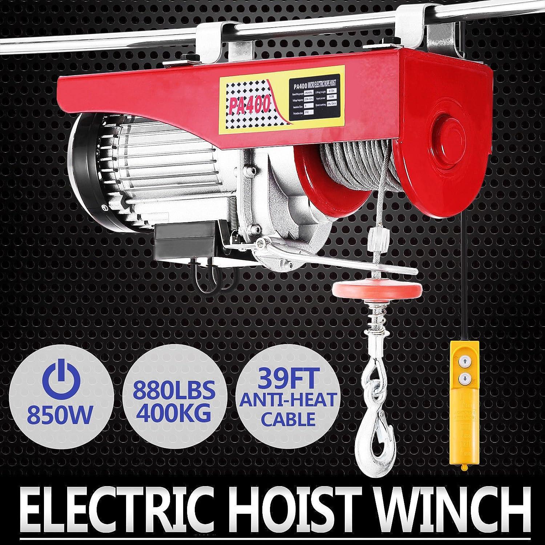 Autovictoria Polipasto Electrico Ascensor 400kg Overhead Polipasto Electrico 220v Cable Eléctrico Polipasto Garage Auto Shop(400kg): Amazon.es: Industria, ...