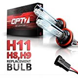 OPT7 Blitz H11 Replacement HID Bulbs Pair [6000K Lightning Blue] Xenon Light