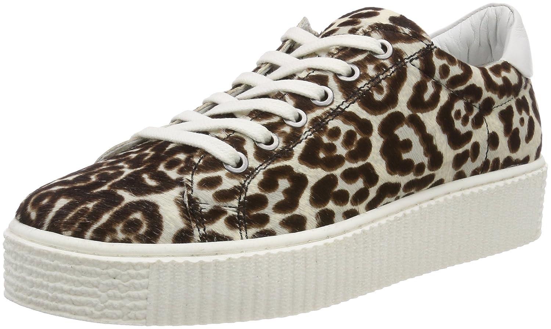 Maruti Cato Hairon Leather, Baskets Femme, Beige (Pixel Offwhite/Black ZJ2), 38 EU