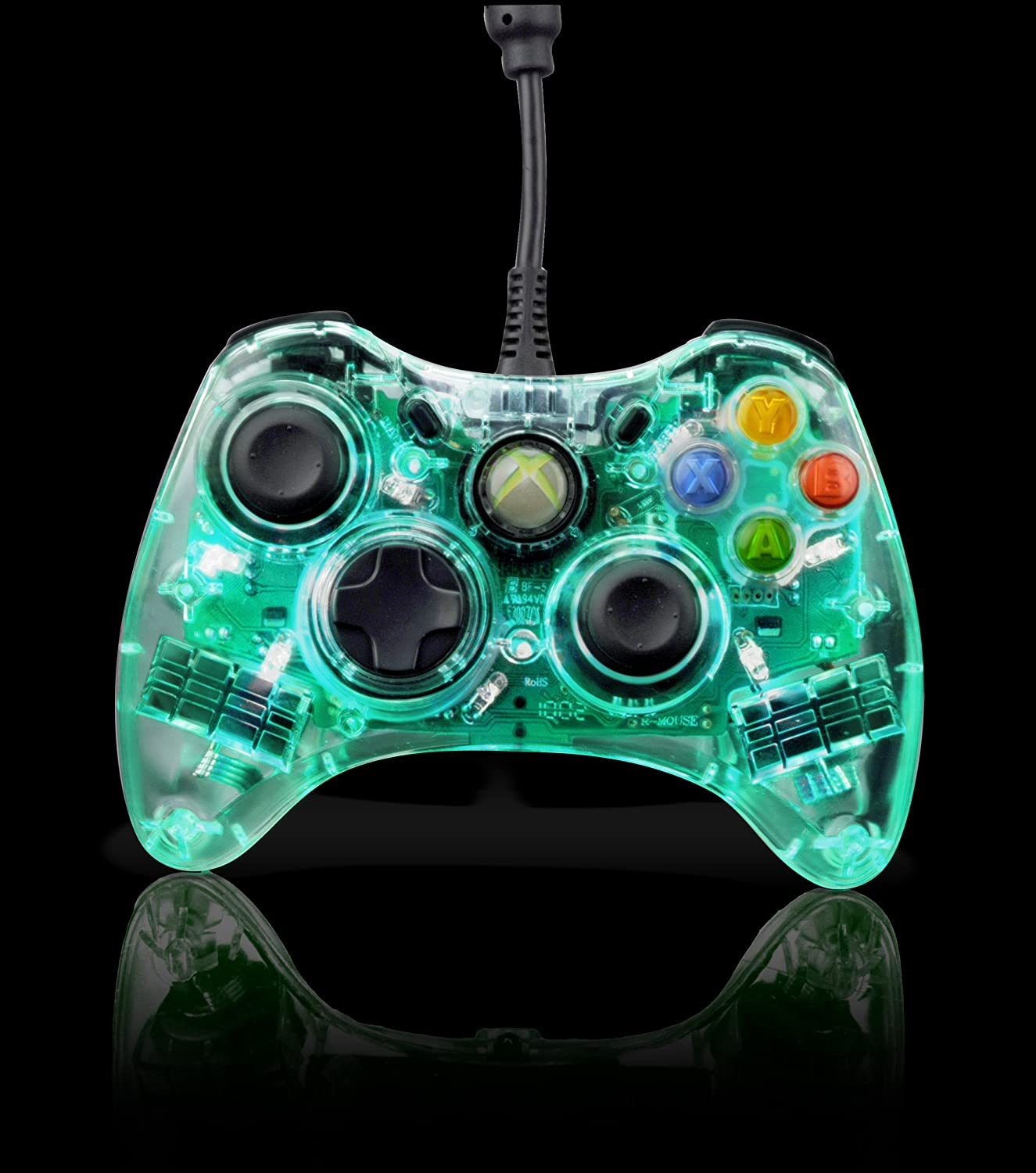 PDP Afterglow AX.1 Wired Controller Glows Green XBOX 360: Amazon.co ...