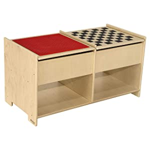 Wood Designs Build-N-Play Table with Checkerboard