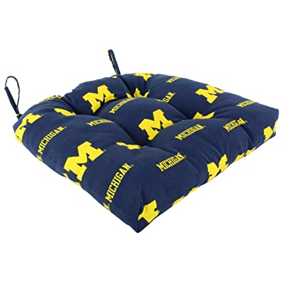 "College Covers Michigan Wolverines Indoor/Outdoor Seat Patio D Cushion, 20"" x 20"": Home & Kitchen"