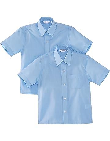 f3d48304e Trutex Limited Boy's Short Sleeve School Shirt-Pack of 2