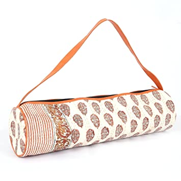 Amazon.com : woods and petals Yoga Mat Bag - Hand Made ...