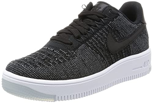 lowest price 84c03 d7070 Nike Donna W Af1 Flyknit Low Scarpe Sportive Nero Size  36 1 2