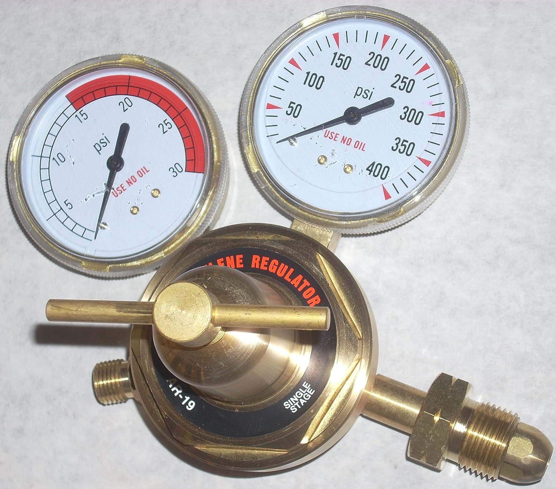 Acetylene Gas Regulator AR-19 Welding Cutting LP or Propane 2 1/2' Gauges CGA510 Unknown
