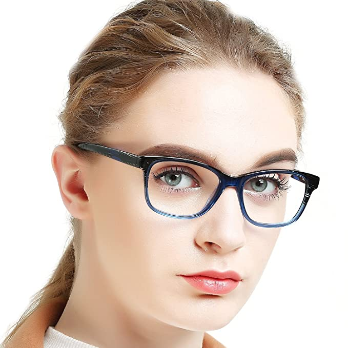 c4c98d2e66 OCCI CHIARI Gafas de mujer Montura de gafas Marco óptico de los gafas El marco  de los Gafas se ajusta a la mayoría de la multitud: Amazon.es: Ropa y ...
