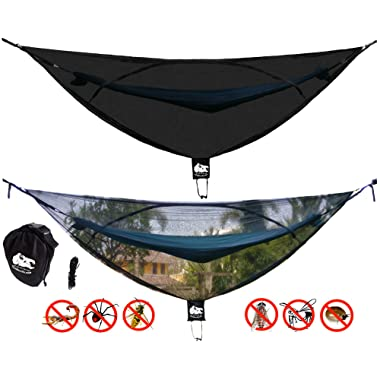 Chill Gorilla 11' Bug NET Stops Mosquitos, No See Ums & Repels Insects. Fits All Camping Hammocks. Compact, Lightweight. Camp Accessories. Fast Easy Setup. Size 132  x 51