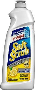 Soft Scrub All Purpose Surface Cleanser, Lemon, 24 Fluid Ounces