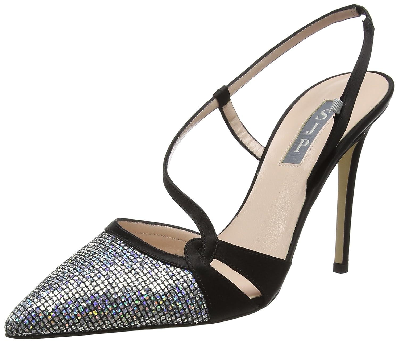 SJP by Sarah Jessica Parker Quinn, Zapatos de Talón Abierto para Mujer 40 EU|Multicolor (Black/Scintillate)