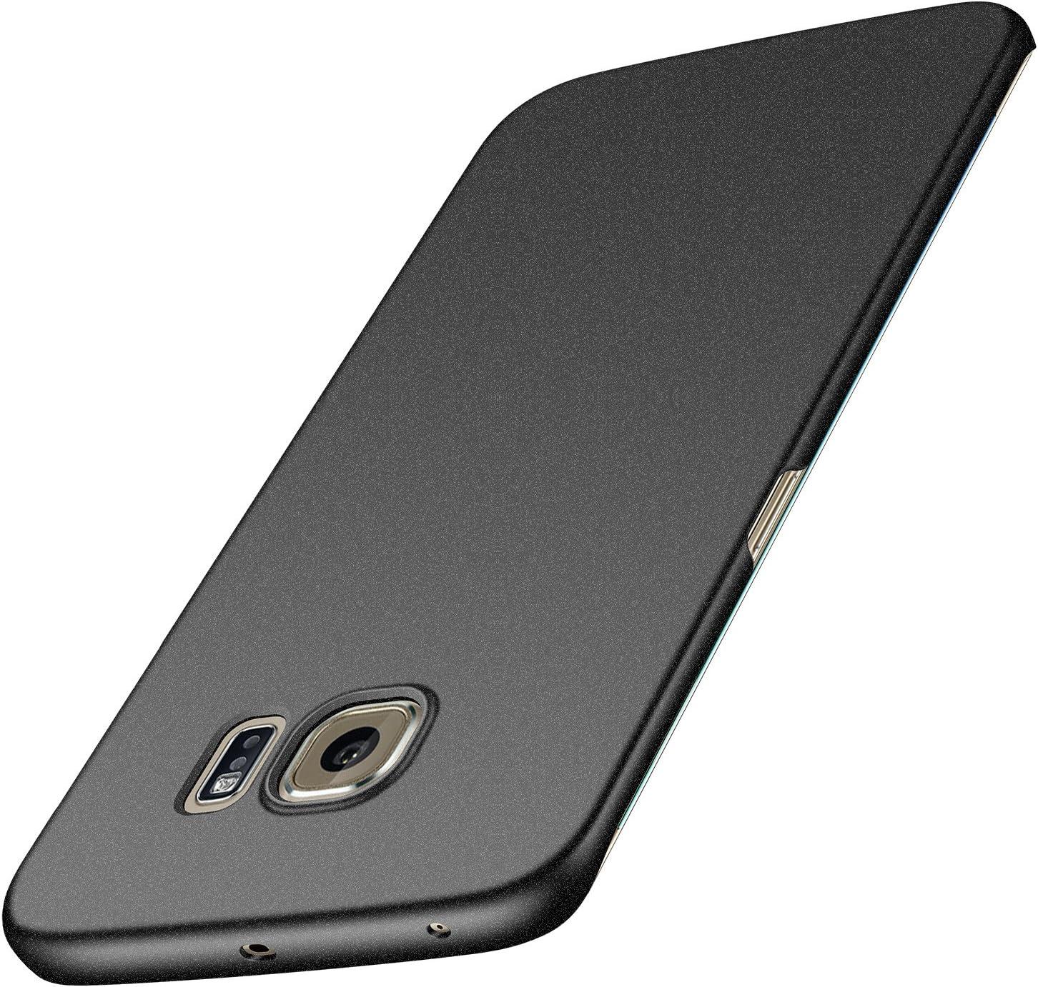 Anccer Funda Samsung Galaxy S6 Edge Plus [Serie Colorida] [Ultra-Delgado] [Ligera] Anti-rasguños Estuche para Case Samsung Galaxy S6 Edge+ (Grava Negro)