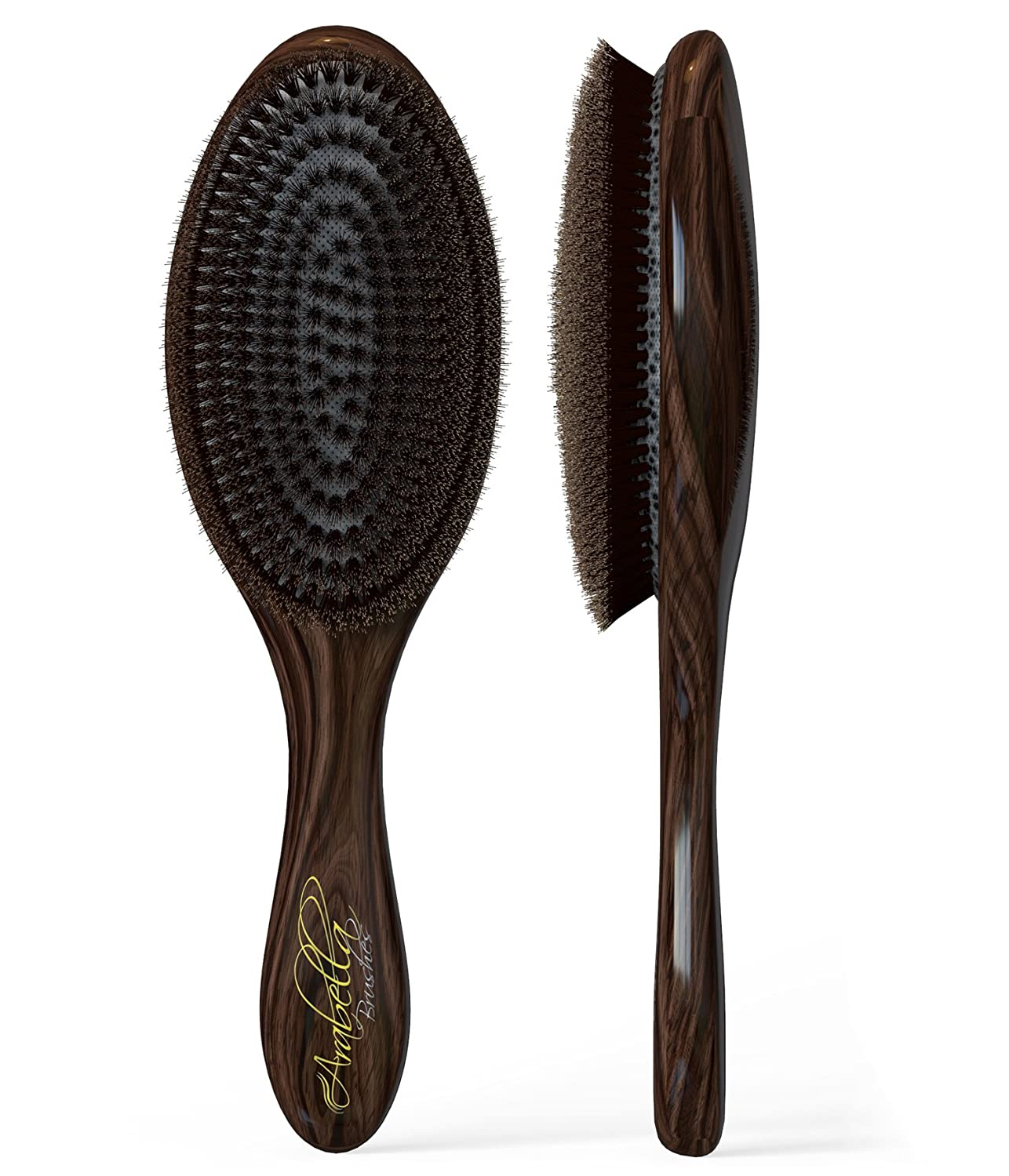 100% Natural Boar Bristle Hair Styling Brush -Classic Looking, Oval Shaped, Best Used for Short or Long Hair, Beards, Fades and Pompadors, - Soft Bristles-professional Salon Quality- For Men and Women- Light Weight- Canadian Design. Buy Now, Lifetime Guara