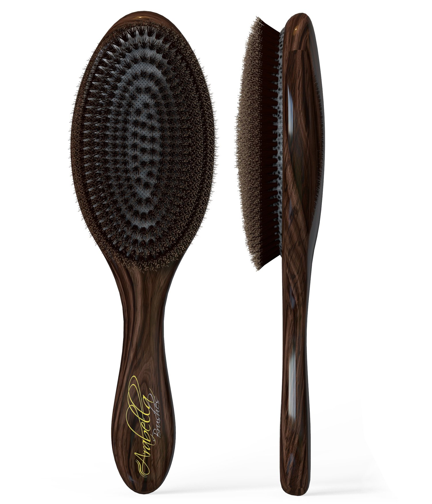 100% Natural Boar Bristle Hair Brush Best Used for Short or Long Hair, Beards- Soft Bristles-professional Salon Quality- For Men and Women- Light Weight. Buy Now