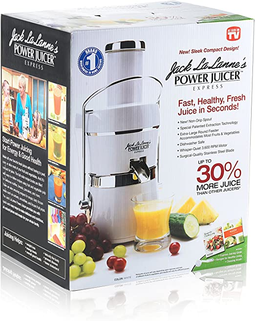 Jack LaLannes PJEW Power Juicer Express, White by Jack LaLanne ...