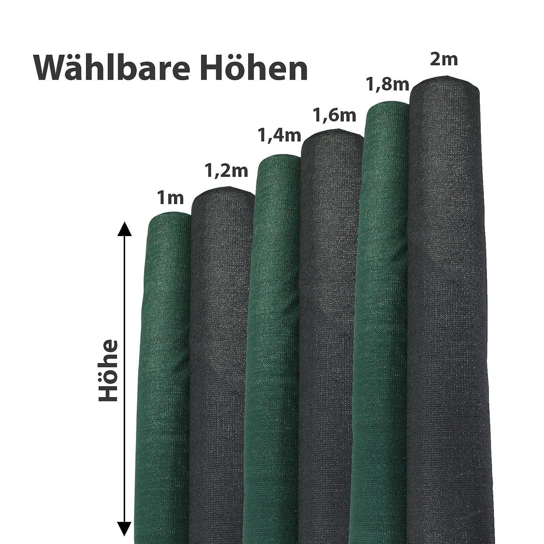 Amazon TOP MULTI Tennis Sichtschutz anthrazit 2m x 10m