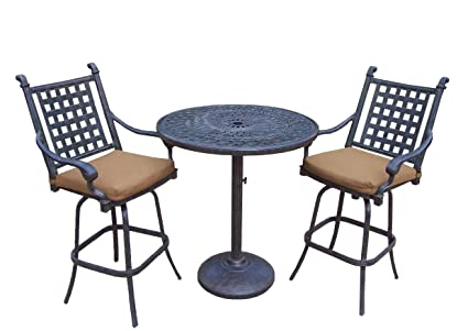 Amazon Com Oakland Living Belmont 3 Piece Bar Table Set With