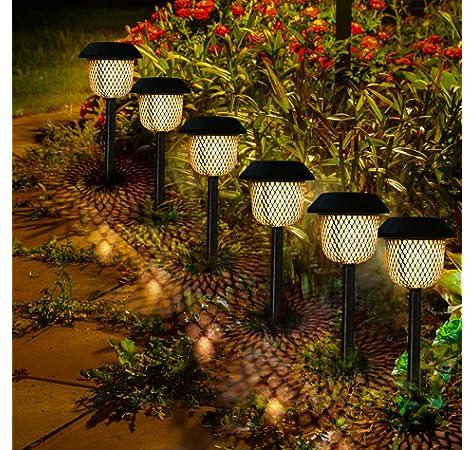 Farolillos Solares Exterior, Tencoz Luces Solares LED Exterior IP44 Lámpara Solares Exterior Jardin Decoracion Jardin Exterior Luces para Césped,Pasillo, Casas, Boda, Fiesta de Navidad: Amazon.es: Iluminación