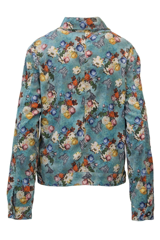 Desigual Veste Femme CHAQ Bouquet 18WWEN21 38 (s) Turchese