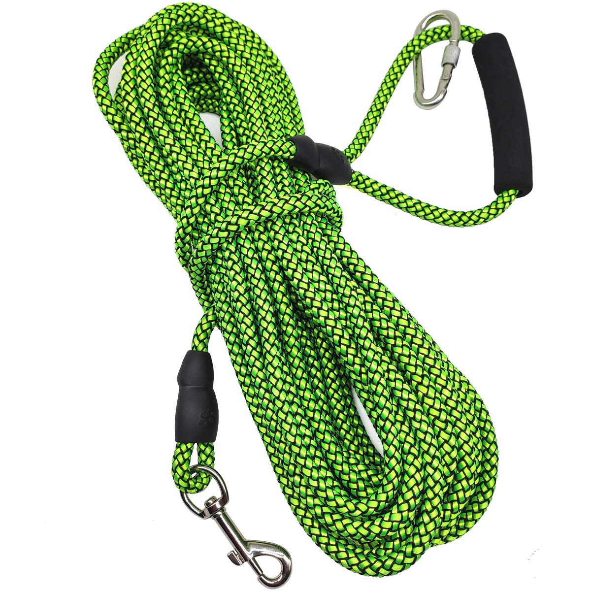 Mycicy 10ft 15ft 30ft Long Line Training Rope Leash, Soft Handle Heavy Duty Nylon Recall Lead for Small Medium Large Dogs
