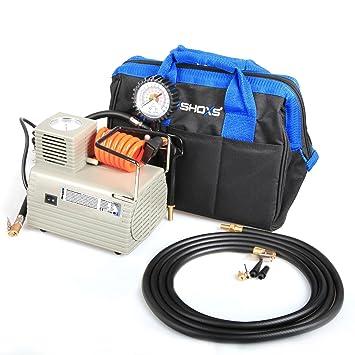 Potente Compresor De Aire iSHOXS airmaxx, Ball Compresor con integrado indicador de impresión, 220