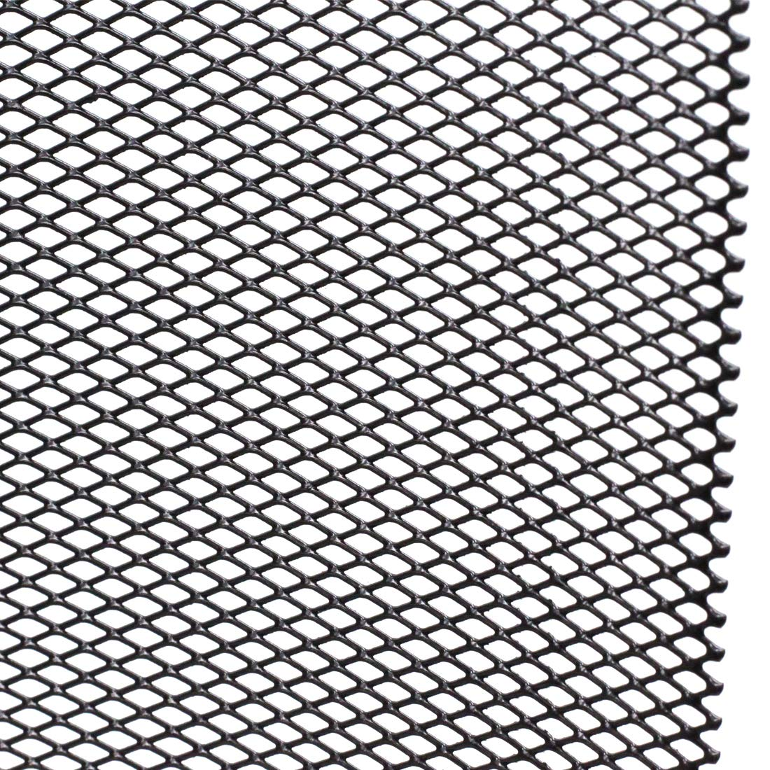 AUTOT 40x13 Car Grille Sheet 8x4mm Rhombic Type Silver