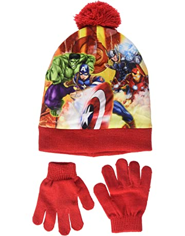 0d67e50f Marvel Boy's Avengers Fighting Position Hat and Glove Set