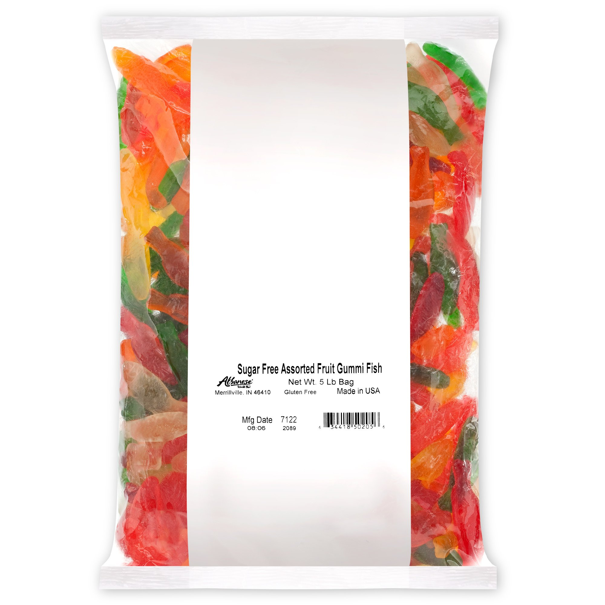 Haribo gummy bears are just one of many products that thomas - Albanese Candy Sugar Free Assorted Fruit Gummi Fish 5 Pound Bag