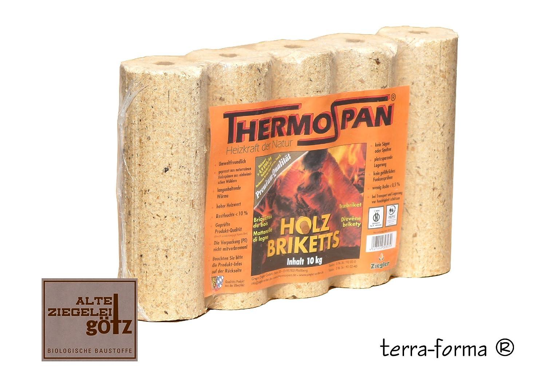 Thermospan Holzbrikett 10 Kg rund mit Loch