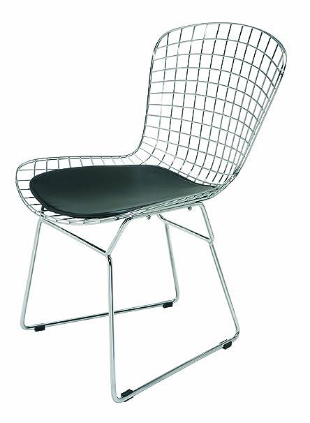 Amazon.com: wireback silla de comedor – Negro – Cojín ...