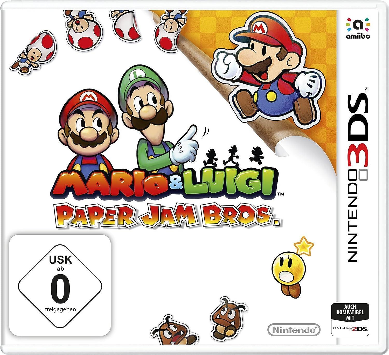 Amazon Com Mario Luigi Paper Jam Bros 3ds Edition
